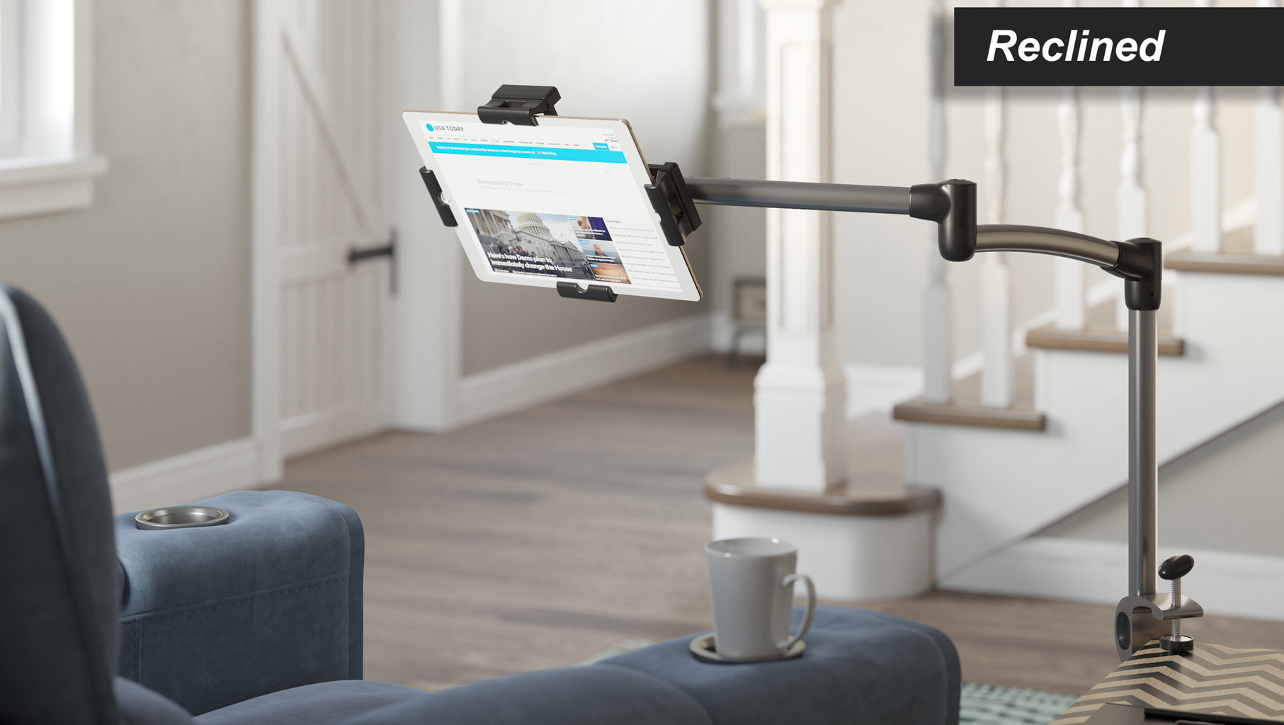 Super The Easy To Use Tablet Stand Table Clamp By Levo Levo Gmtry Best Dining Table And Chair Ideas Images Gmtryco