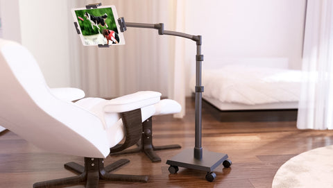 LEVO G2 Deluxe Tablet Floor Stand - Refurbished - Gunmetal Black