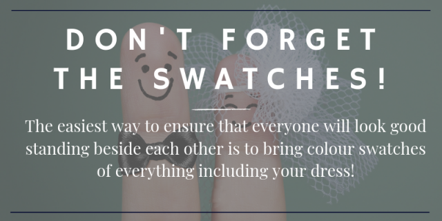 Don't forget the swatches