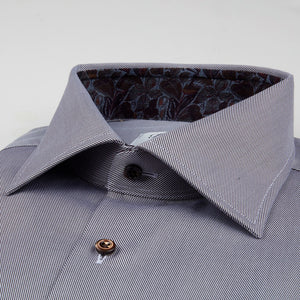 Grey Textured Dress Shirt