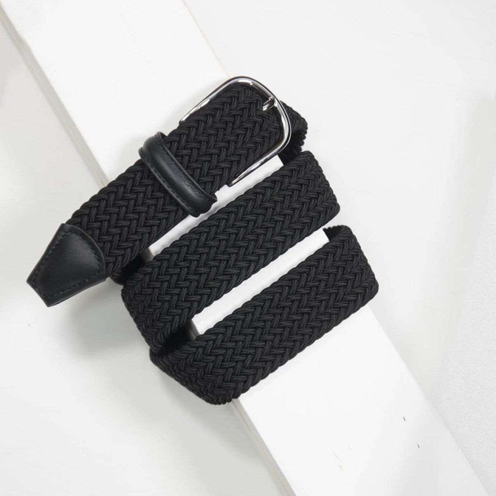 Black Nylon Woven Belt - Mr. Derk Apparel Ltd.