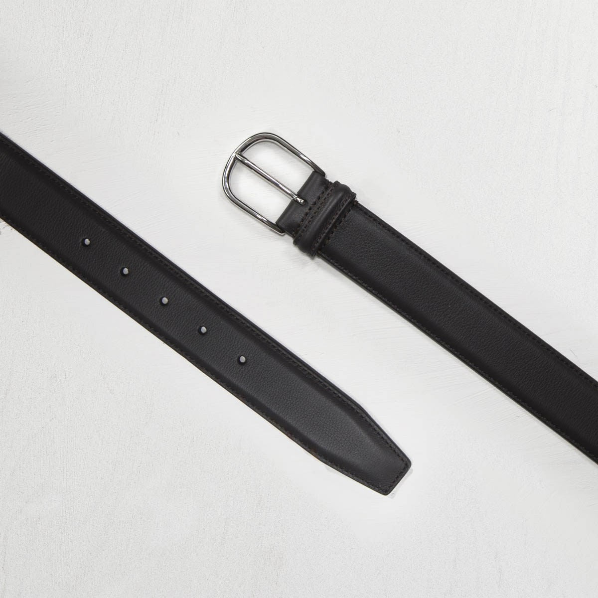 Dark Brown Leather Belt - Mr. Derk Apparel Ltd.