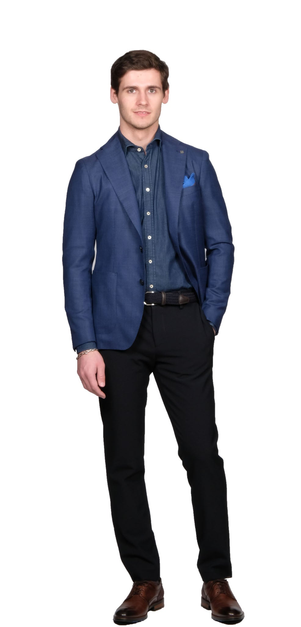 Tagliatore French Blue Blazer - Mr. Derk Apparel Ltd.