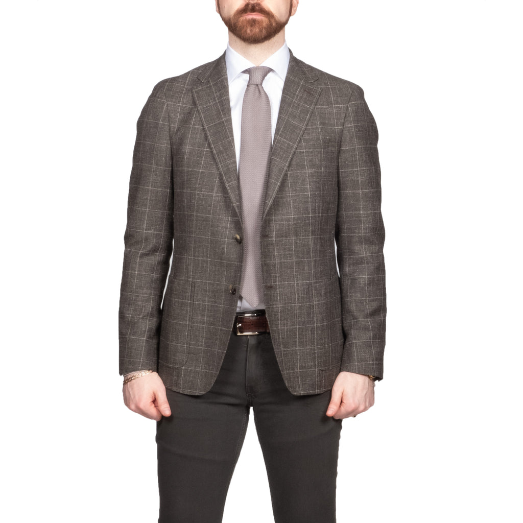 Strellson Brown Check Blazer - Mr. Derk Apparel Ltd.