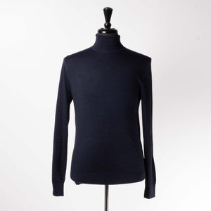 Navy Turtleneck Sweater