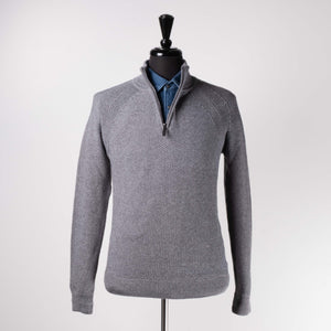 Grey Rocco 1/4 Zip Sweater