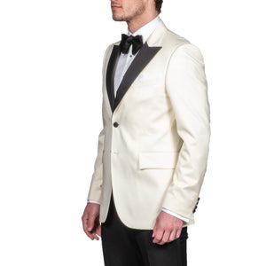 Ivory Peaked Lapel Dinner Jacket - Mr. Derk Apparel Ltd.