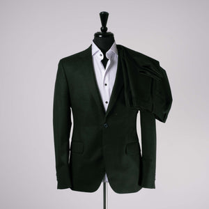 Green V.B.C Flannel Suit