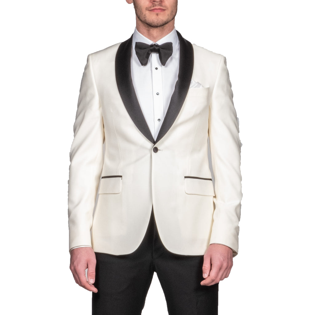 Ivory Shawl Lapel Dinner Jacket - Mr. Derk Apparel Ltd.