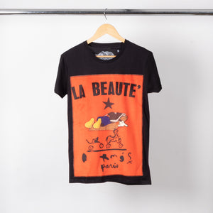 Black Beaute Patched Tee