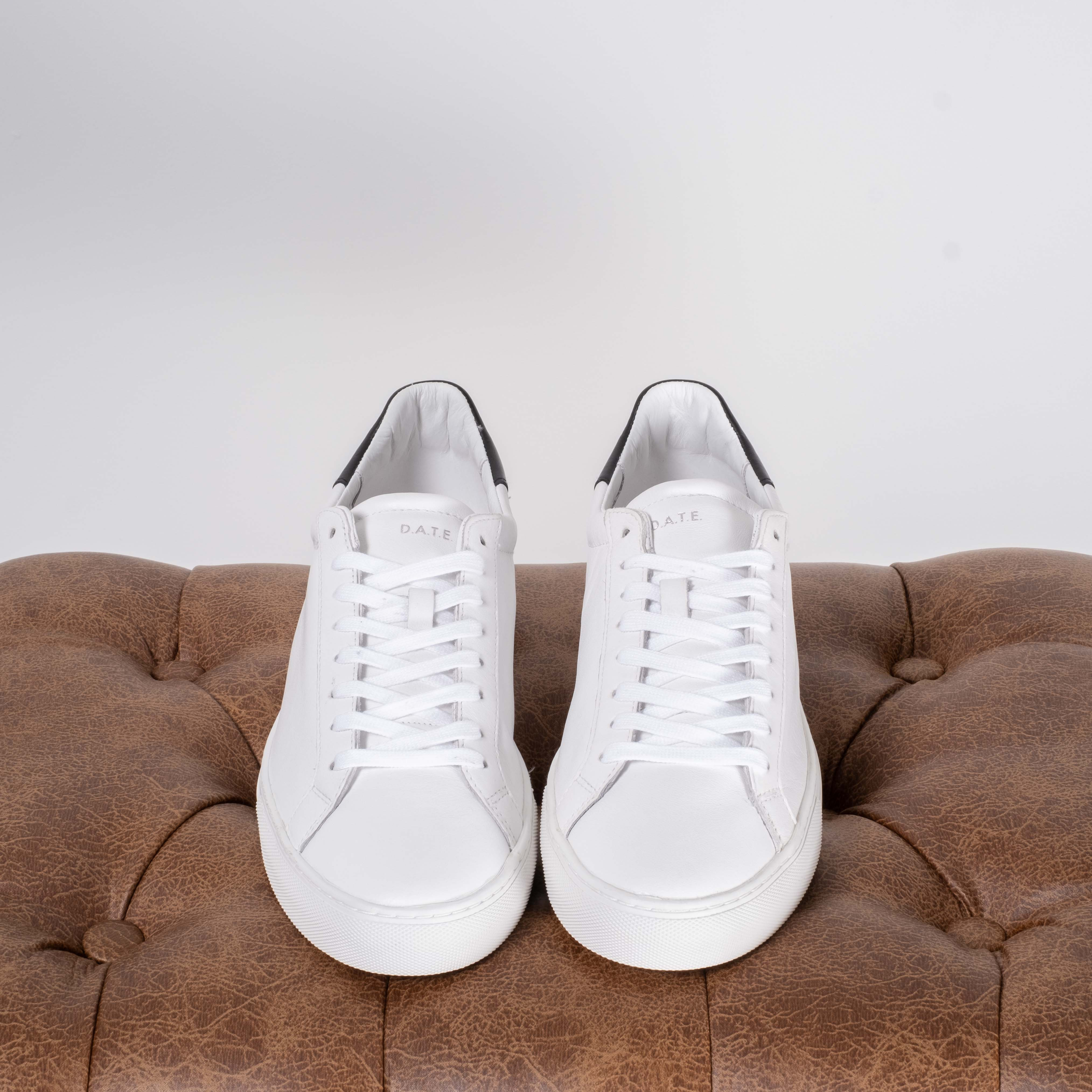 White Calf Leather Sneakers