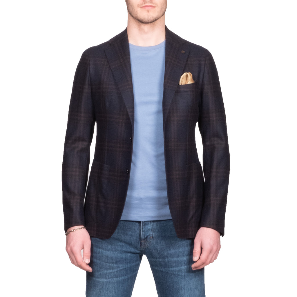 Tagliatore Navy Check Blazer - Mr. Derk Apparel Ltd.