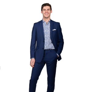 Slim Electric Blue Suit - Mr. Derk Apparel Ltd.