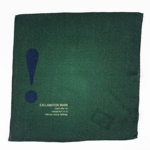 Green Wool Pocket Square