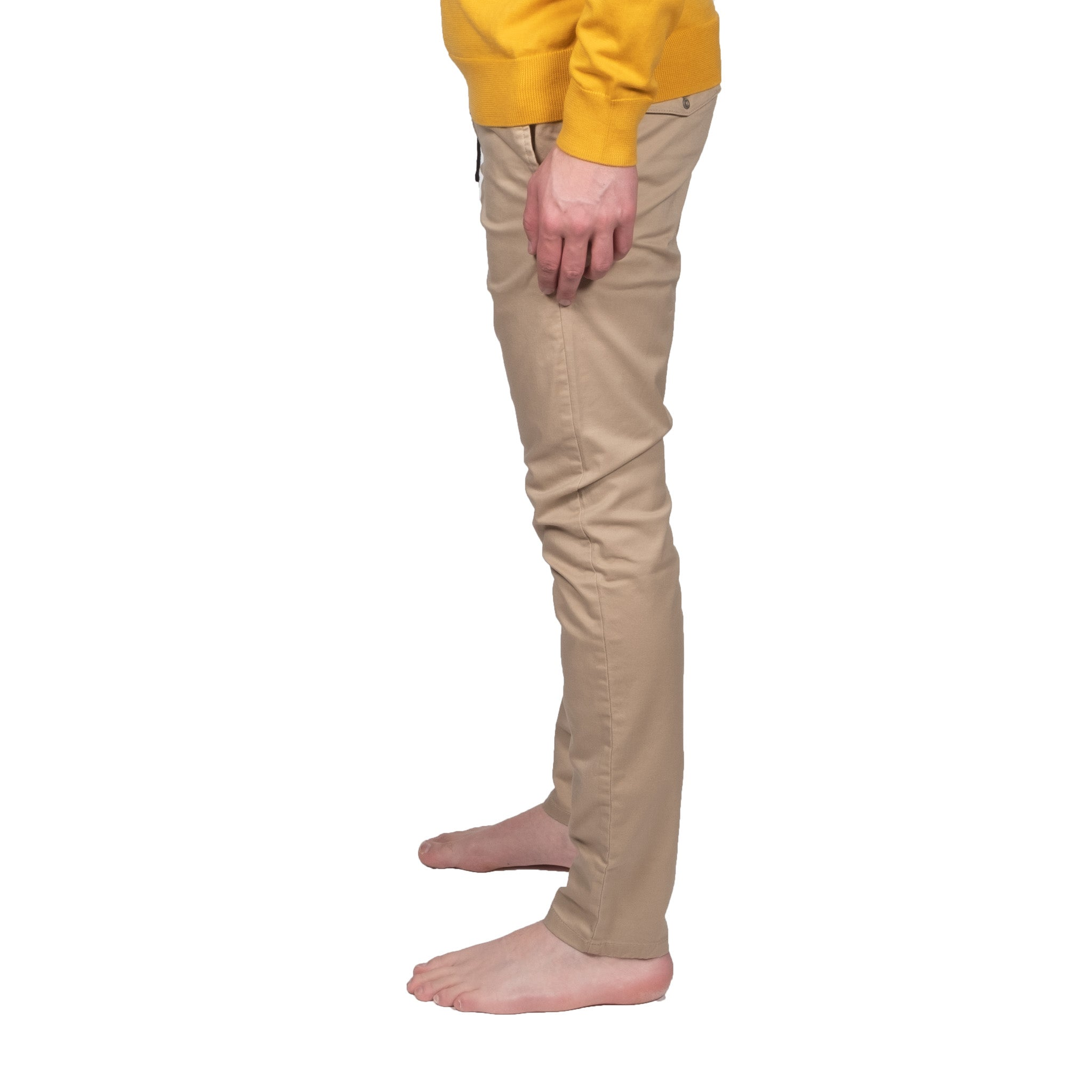 Slim Drawstring Beige Chino - Mr. Derk Apparel Ltd.