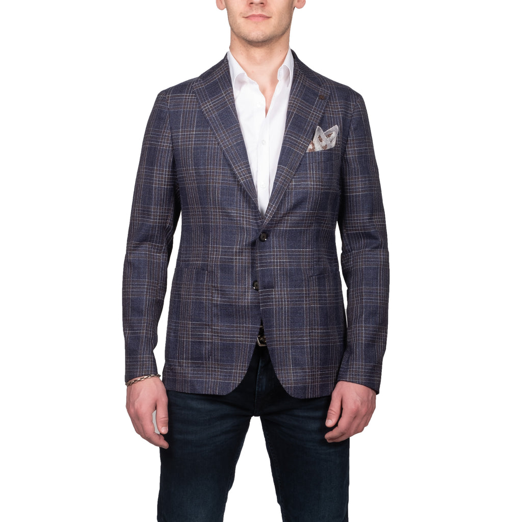Navy Check Blazer - Mr. Derk Apparel Ltd.