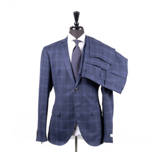 BlueWindowpane Suit