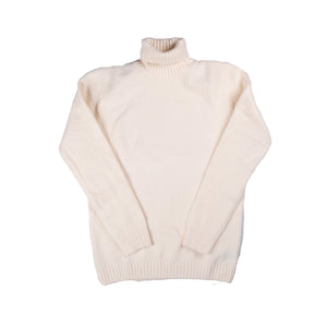 Cream Roll Neck Sweater