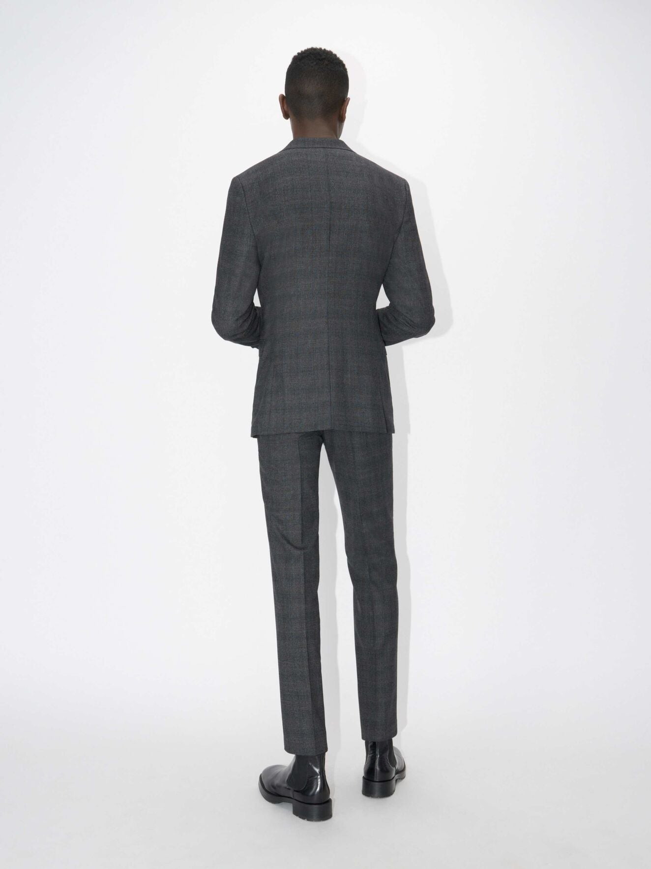 Soft Constructed Navy Check Suit