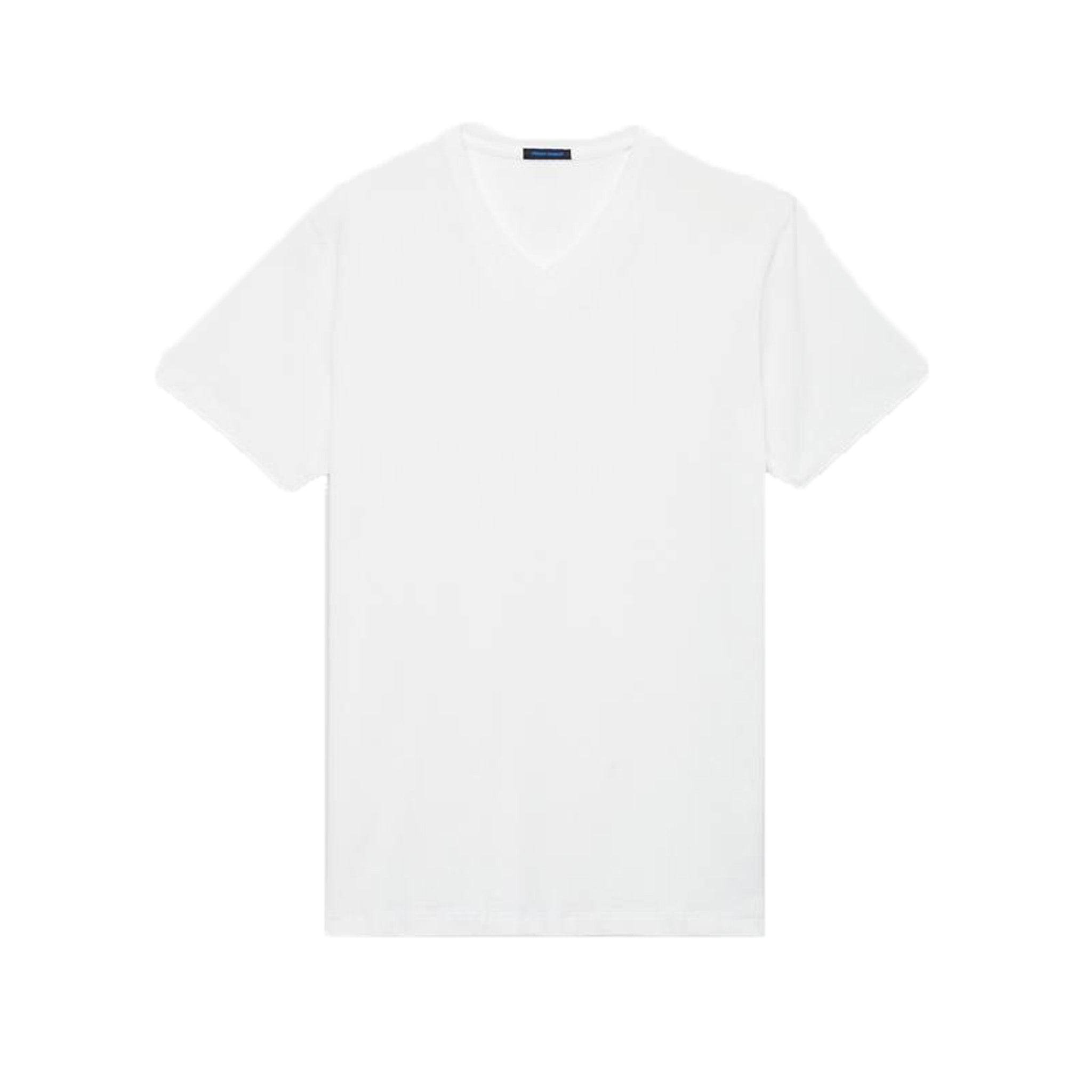 Essential V Neck White Pima Tee - Mr. Derk Apparel Ltd.