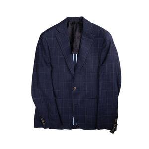 Navy Angelico Check Fabric