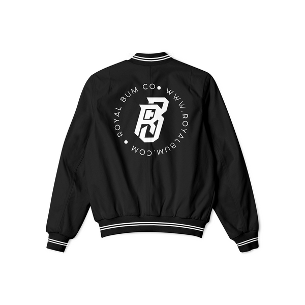 Satin Royalty Only Bomber (Black)