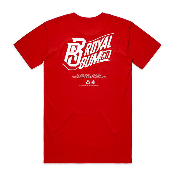 Red & White Wave Tee