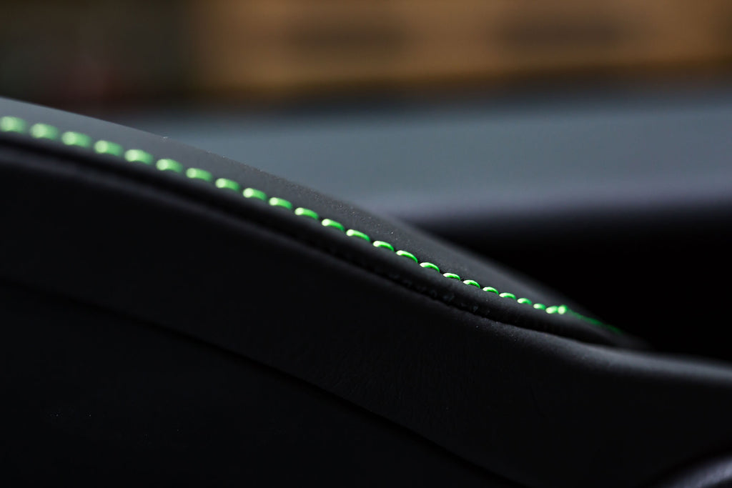 Lexus Sriracha IS Leather Stitching in Green