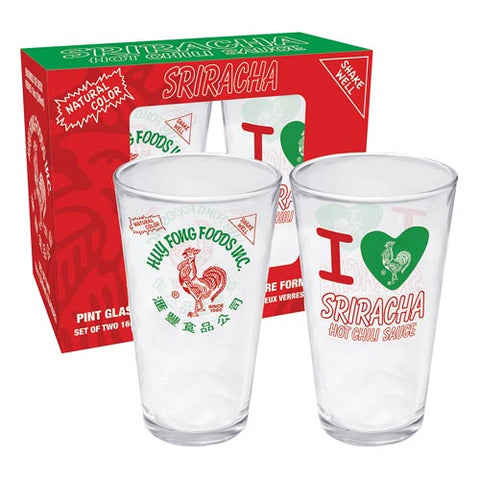 Huy Fong Foods Pint Glass Gift Set