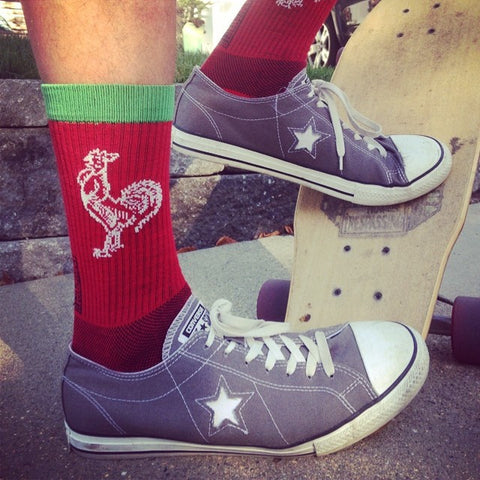 Sriracha Hot Socks Skateboarding