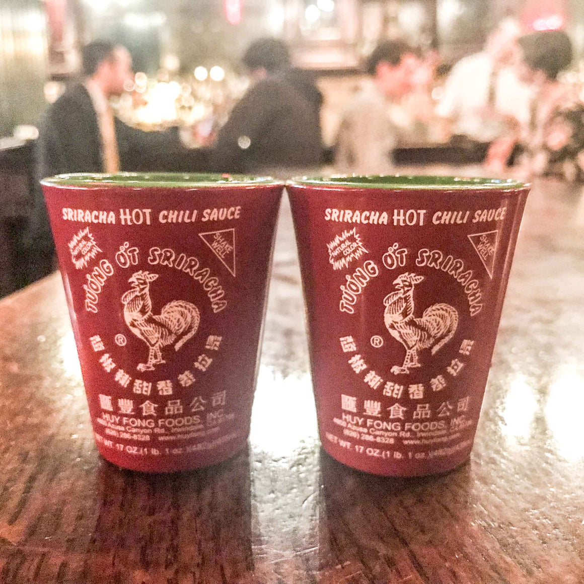 Sriracha Shot Glasses