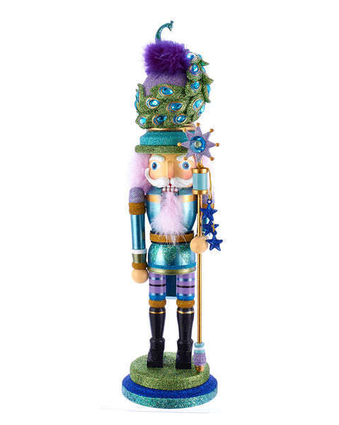 "17.5"" Peacock Hat Nutcracker"