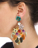 DRAMATIC AND COLORFUL EARRINGS