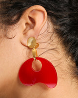 PLEXIGLASS CLIP EARRINGS WITH 14K GOLD
