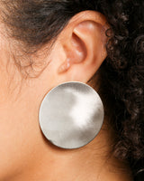 PRECIOUS METAL PLATED CIRCLE EARRINGS