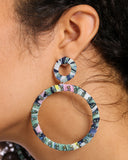 FABRIC CIRCLE EARRINGS