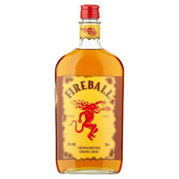 Fireball Liqueur Blended with Cinnamon and Whisky 70cl, Case of 6