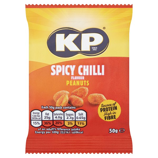 Kp Spicy Chilli Flavour Peanuts 21 x 50g, Case of 21