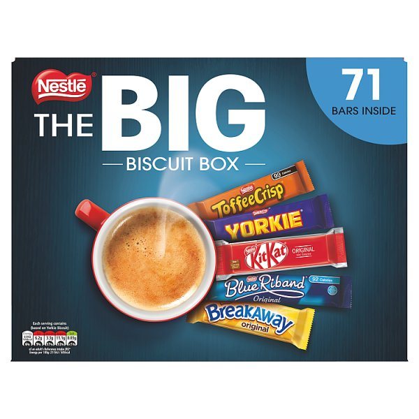 Nestle The Big Biscuit Box 71 Chocolate Bars Sharing Box 1.4kg
