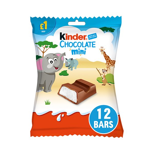 Kinder Chocolate Mini Pouch 72g, Case of 10