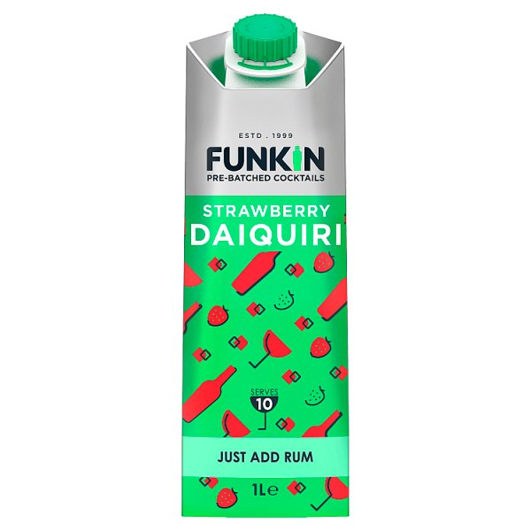 Funkin Pre-Batched Cocktails Strawberry Daiquiri 1L, Case of 6