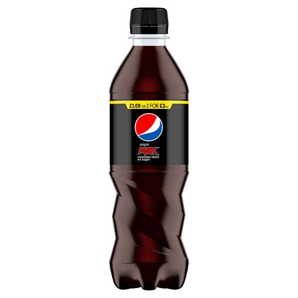 Pepsi Max Cola 12 x 500ml, Case of 12