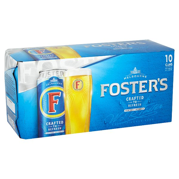Fosters Lager Beer 10 x 440ml Cans