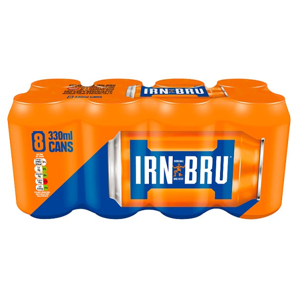Irn-Bru 8 x 330ml Cans, Case of 3