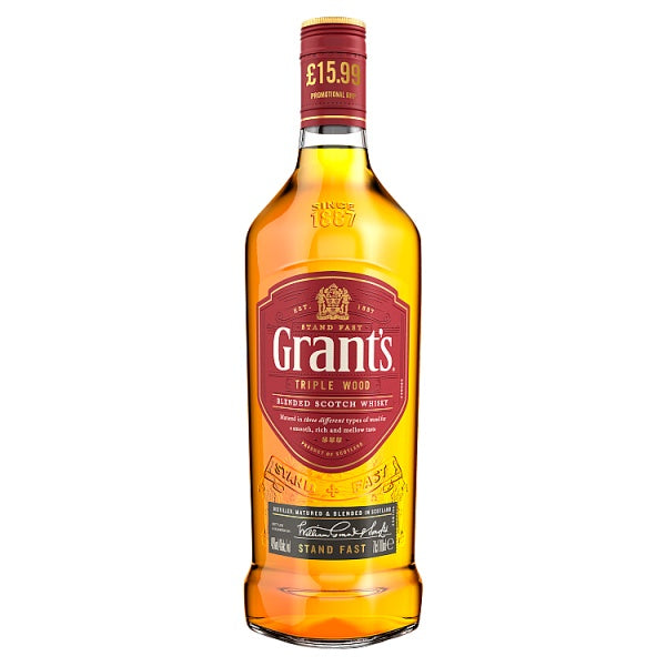 Grant's Triple Wood Blended Scotch Whisky 70cl, Case of 6