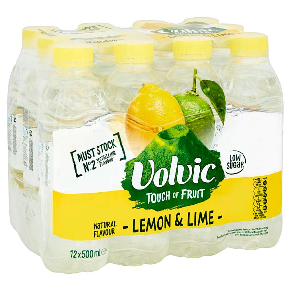 Volvic TOF Lemon & Lime, Case of 12