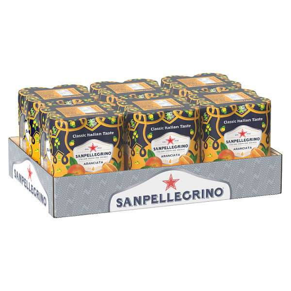 Sanpellegrino Classic Taste Orange Slim Can 330ml, Case of 4