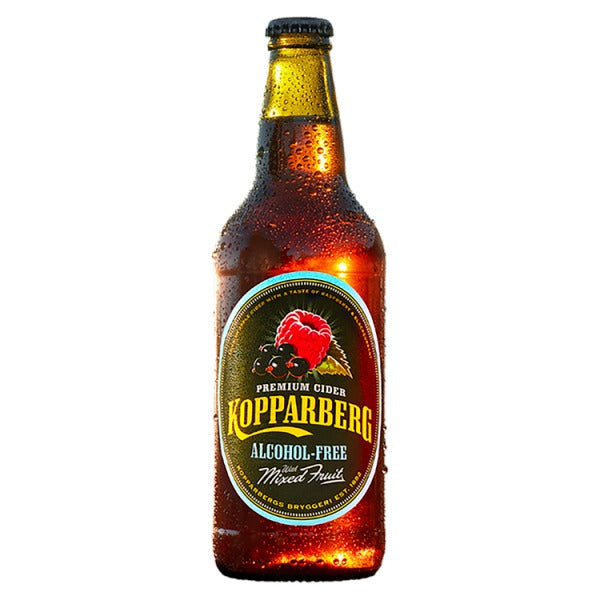 Kopparberg Premium Cider Alcohol-Free with Mixed Fruit 500ml, Case of 8