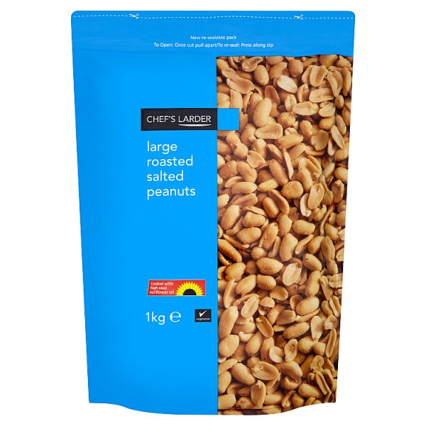 Chef's Larder Large Roasted Salted Peanuts 1kg, Case of 6