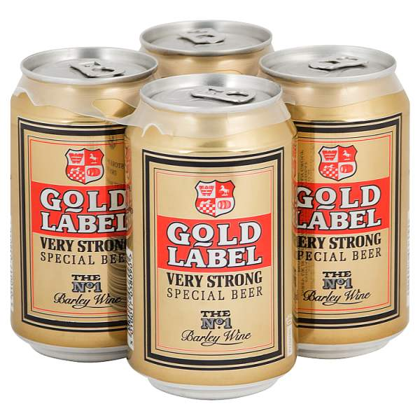 Gold Label Very Strong Special Beer 4 x 330ml, Case of 24